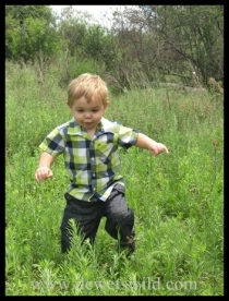 Joubert chasing butterflies on the farm his grandfather grew up on
