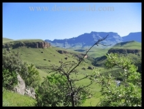 The rolling hills of Giants Castle Game Reserve in the uKhahlamba Drakensberg Park
