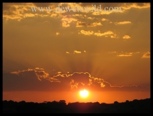 Sunset over Ithala Game Reserve