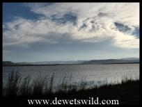 Looking westwards accross Ntshingwayo Dam towards the Drakensberg