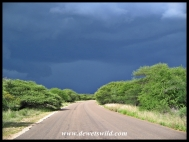 Gloomy skies over the H7 between Orpen and Satara