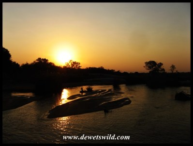 Sunrise over the Sand River