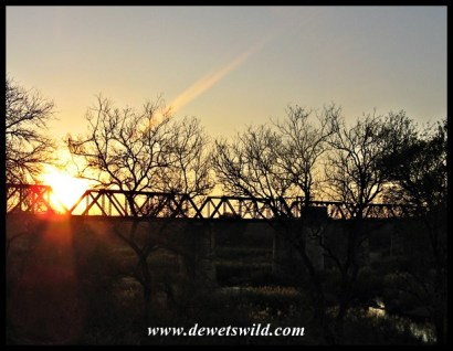 Sunset view of the Sabie Bridge from Skukuza's day visitors area