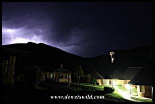Thunder and lightning over Glen Reenen