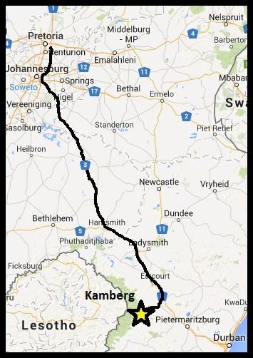 Kamberg Map