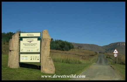 Signpost at the Kamberg border