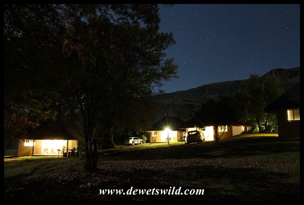 Kamberg camp at night