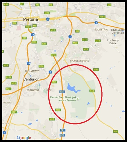 Rietvlei location