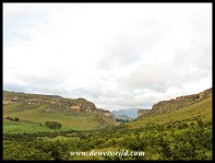 Looking from the foot of Brandwag towards Clarens