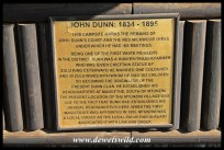 Plaque commemorating John Dunn at Indaba Campsite