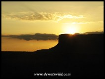 Sunrise near Basotho Cultural Village in Golden Gate Highlands National Park
