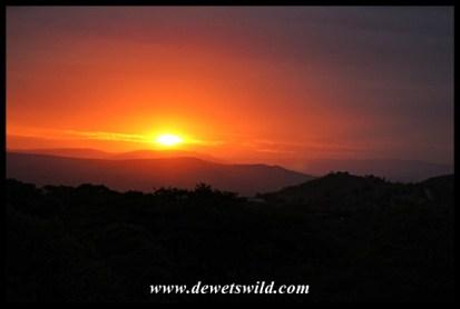 Sunset west of Mpila