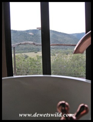 Bathroom with a view at Addo's new Nyathi Camp