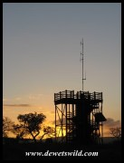 uMkhuze sunset at the lookout tower