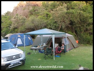 Camping at Ebb-and-Flow Rest Camp in the Garden Route National Park, December 2017