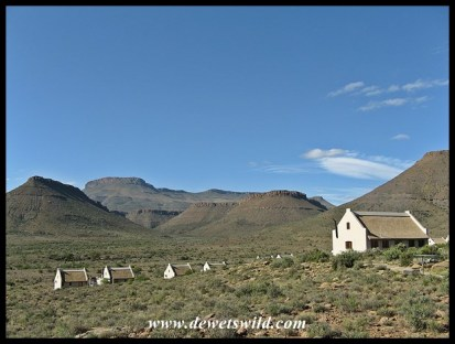 Wide open spaces surround the Karoo National Park's accommodation units