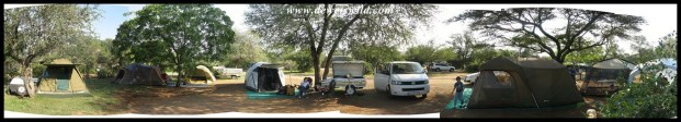 Camping at Satara, Kruger National Park, April 2017
