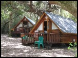 Some of the accommodation units at Storms River Mouth - these are the rustic Forest Huts