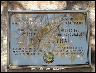 Plaque commemorating the proclamation of the Park