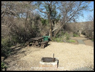 Picnic facilities at at Bulkraal Picnic Site