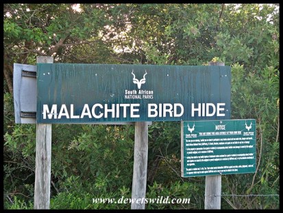 Malachite Hide signpost