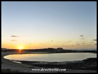 Sunrise over the lagoon at the main camp in Agulhas National Park
