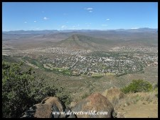 Graaff-Reinet seen from the toposcope on the way to the Valley of Desolation