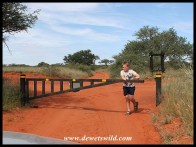 8 Years old: April 2018. Opening the gate at Haak-en-Steek Cottage in Mokala National Park