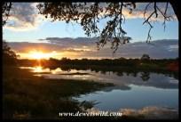 Sunset over Pioneer Dam near Mopani