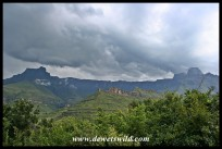 Drakensberg Amphitheatre seen from Thendele in the Royal Natal National Park, 23 March 2019