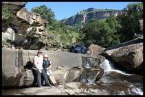 At the Cascades in Royal Natal National Park