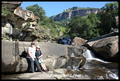 At the Cascades in Royal Natal National Park