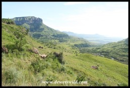 Looking towards Thendele from the Tugela Gorge trail