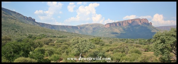 View over the valley and Waterberg range from Thutong