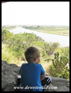 3 Years old: April 2013. Best seat in the house: Mlondozi Picnic Site, Kruger National Park.