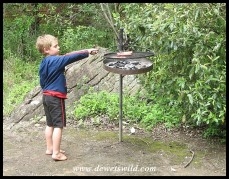 5 Years old: December 2014. Braaiing at Ithala Game Reserve.