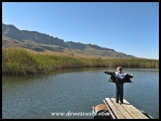 5 Years old: May 2015. Titanic impression on a trout dam at Kamberg in the uKhahlamba Drakensberg Park.