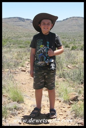 8 Years old: December 2017. Walking in the Karoo National Park