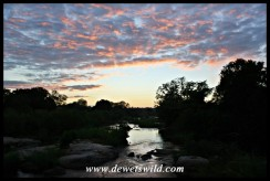 Sunrise over the Sabie River