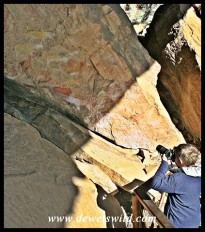 9 years old: June 2019. Joubert photographing San rock art at Giant's Castle
