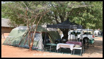 Camping at Crocodile Bridge, Kruger National Park, September 2019