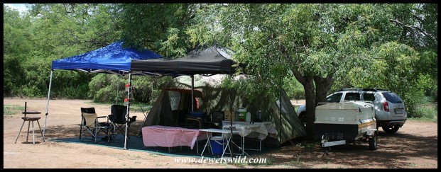 Camping at Satara, Kruger National Park, December 2019-January 2020
