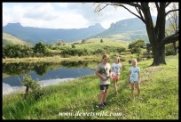 Joubert with good friends at Mahai in the Royal Natal National Park