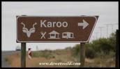 Turnoff to the Karoo National Park