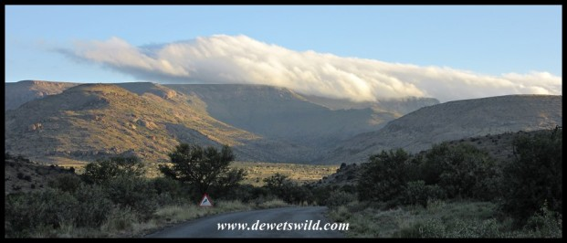 Clouds hanging over the hills of Mountain Zebra National Park
