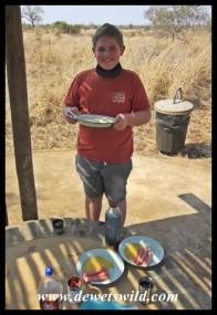 The birthday boy! Twelfth birthday lunch at Satara.