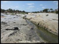Bedrock exposed by the Biyamiti River