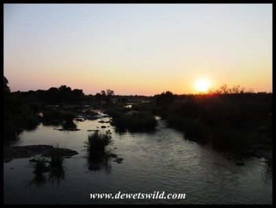 Sunset over the Sabie