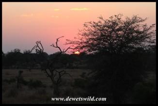 Sunset over the Sweni plains