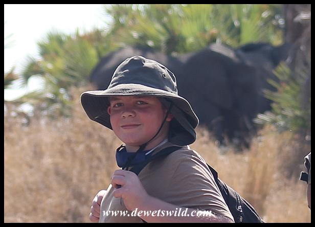 Joubert posing with the elephants